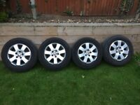 "16"" load rated wheels and tyres for VW Transporter"