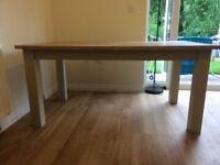 Next Malvern Cream Extendable Dining Table (seats 6-8 people)