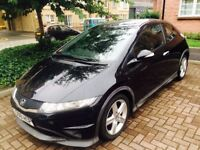 2008 Honda Civic Type-S 1,8 petrol 140BHP, FSH, Long MOT ,.Black £2300