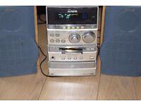 AIWA MINI DISC/CD/RADIO/AUX IN 80WP PLAY IPOD PHONE MUSIC
