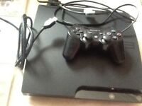 PS3 with 2 controllers 10 plus games and accessories