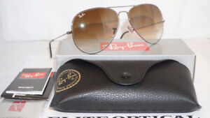 RayBan Aviators with Case and Cleaning Cloth STILL HAVE TAGS!