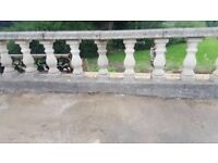 Concrete Balustrading & Copings - selection of wall balustrading, copings and matching pillars.