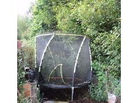 8 foot trampoline with enclosure good condition