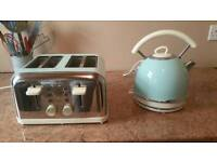 Dunelm kettle and toaster duck egg blue