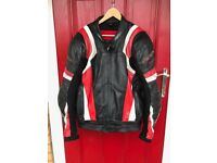 motorbike rst leather jacket size uk 50 excellent condition