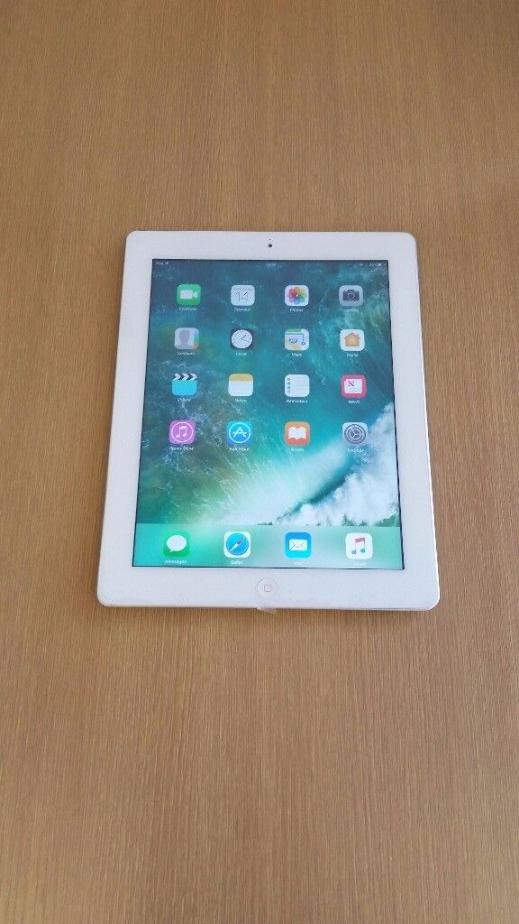 iPad 4 (F2in Stoke on Trent, StaffordshireGumtree - iPad 4 white/gray colour 32GB WiFi come with USB cable and charger and 6 month shop warranty please dont call after 7 pm