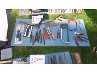 **HAND TOOLS**£3 EACH**SAWS**BOLSTERS ETC**MORE AVAILABLE**