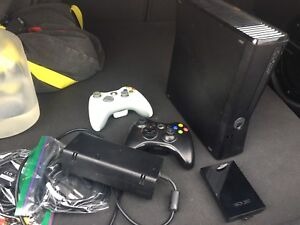 Xbox 360 Slim with 2 controllers and 250gb hard drive