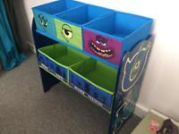Monsters inc Storage unit children's bedroom toys clothes