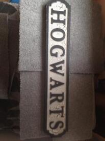 Hogwarts Antique Wood sign