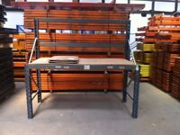 HEAVY DUTY INDUSTRIAL WAREHOUSE PALLET RACKING WORK BENCH TOOL STATION