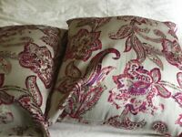 Two Beautiful pink and grey Marks & Spencer cushions