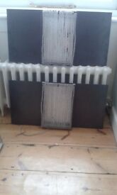 Original Kelly Hoppen metal wall lights - pair