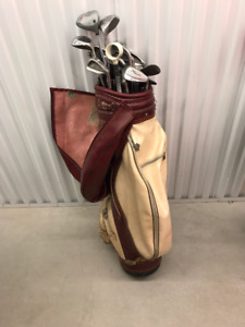 Men's Left Handed TNT Gold Golf Clubs and Bag