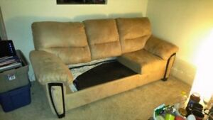 2 couches one is a two piece and the other one a 3 piece sofabed