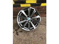 Genuine bmw f10 5 series alloys x4 alloys 17inch msport m3 m5 shadow chrome very good condition