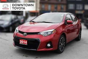 2014 Toyota Corolla S PKG, LEATHER, BACK UP CAMERA, ALLOYS