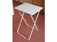 3 Chairs and 1 Small Table - ARGOS - White. Can be sold separately