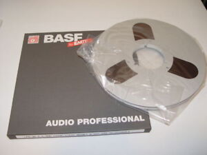 """TWO 10.5"""" Reel to Reel 1/4"""" BASF Professional Recording Tape"""