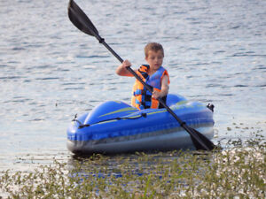 2 - Bestway Inflatable Kayak Canoe Paddle Row Boat - 1 person