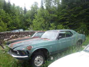 Parting out a 70 Mustang and 70 Cougar