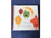 My mini recipes book with stickers