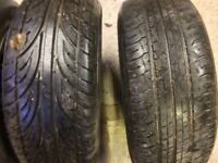"15 inch Genuine BMW ""pepper pot"" wheels and tyres."