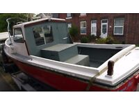 ROMANY 21 GRP 21 X 8 FT INBOARD 2.5L DIESEL SEA GOING FISHING BOAT