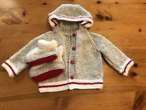 6-12 month sweater and boots