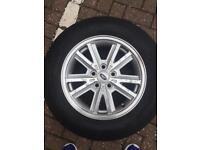 Ford Mustang 4 alloy wheels and tyres