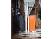 SET OF ORANGE SHELVING FOR GARAGE/WORKSHOP/SHOP DISPLAY