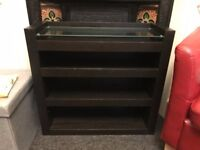 3 shelf bookcase with pull out admin drawer