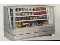Low height stainless steel multi deck daily display case