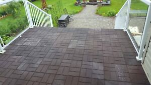 "16""x16"" rubber pavers 1/2"" thick 2 sided"