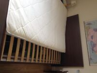 Good as new double bed and mattress