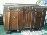 Lovely antique vintage 1950's oak sideboard storage unit
