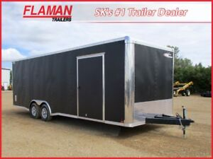 Cross 8.5' x 24' Enclosed Carhauler - Matte Black!