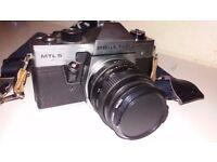 Half Price Praktika MTL 5 camera with Sigma tele photo lences