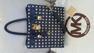 Authentic Michael Kors Large Studded Saffiano Hamilton Tote