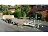 Car transporter flatbed trailer