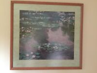 Print of Claude Monets Water Lillies.