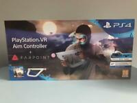 PSVR PS VR aim controller and Farpoint game boxed