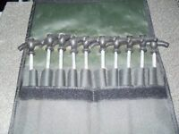 JRC BIVVY BROLLY PEGS USED ONCE 10 IN CASE