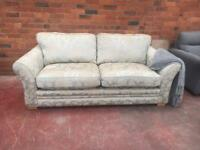 Harvey's Ex Display Duck Egg Upholstered Sofa - Can Deliver