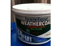 Brand New Homebase Masonry Paint Smooth Magnolia 10L