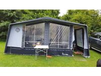 Caravan awning by Isabella, 1035 size in grey, carbon lightweight poles. Including curtains etc.