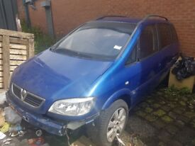 Vauxhall Zafira 2 Litre Diesel For Breaking Only Parts Availble
