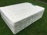 Double Divan Bed with chiropractor endorsed mattress