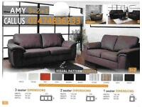 Amy 3+2 and corner sofa suite St